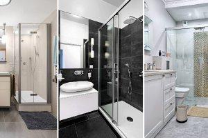 Mała łazienka z prysznicem - galeria zdjęć