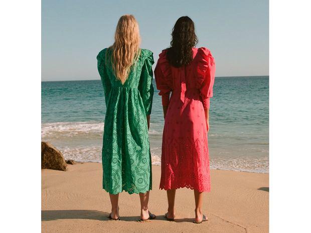 Zara 2020 haftowane sukienki