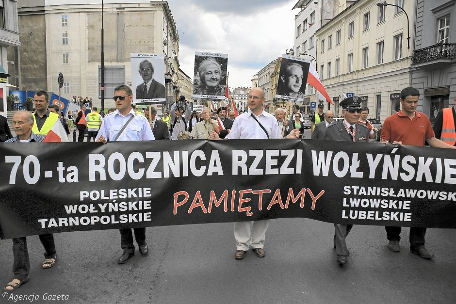Manifestacja w 70. rocznicę Zbrodni Wołyńskiej w Warszawie