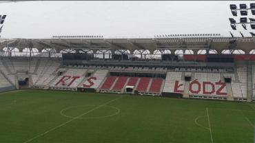 Stadion ŁKS Łódź po akcie wandalizmu kibiców Widzewa. Źródło: FAcebook