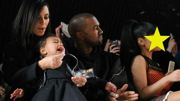 Kim Kardashian i Kanye West z córką North oraz Nicki Minaj