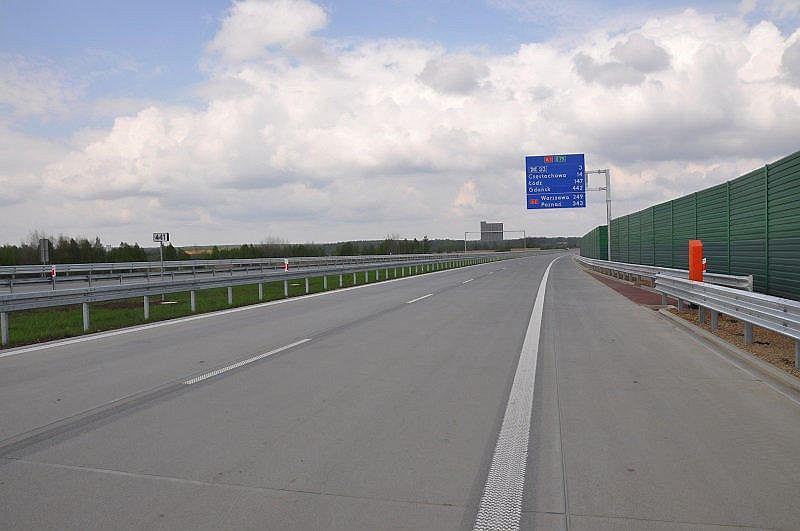 Odcinek autostrady A1 między Częstochową a Pyrzowicami