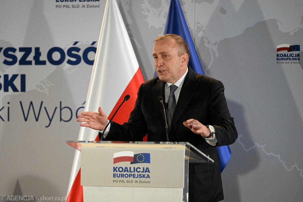 Wybory do europarlamentu 2019. Grzegorz Schetyna na konwencji wyborczej w Szczecinie