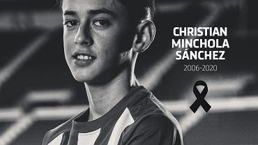 Zmarł młody piłkarz Atletico Madryt, Christian Minchola