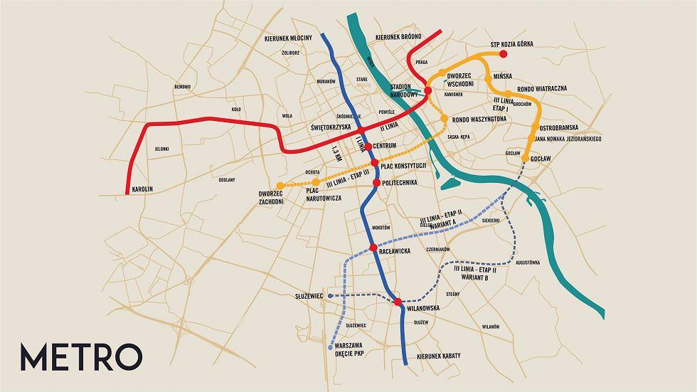 Koncepcja III linii metra zaprezentowana przez ratusz