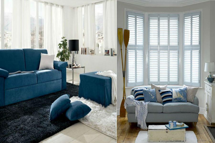 Salon w kolorze niebieskim