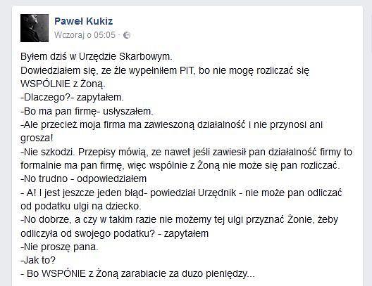 Facebook Paweł Kukiz