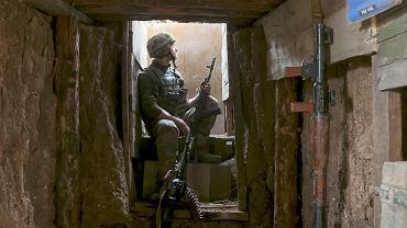 Ukraińscy żołnierze na pozycjach w pobliżu Doniecka