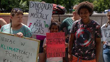 Wakacyjny strajk klimatyczny w Warszawie, 28 czerwca 2019.
