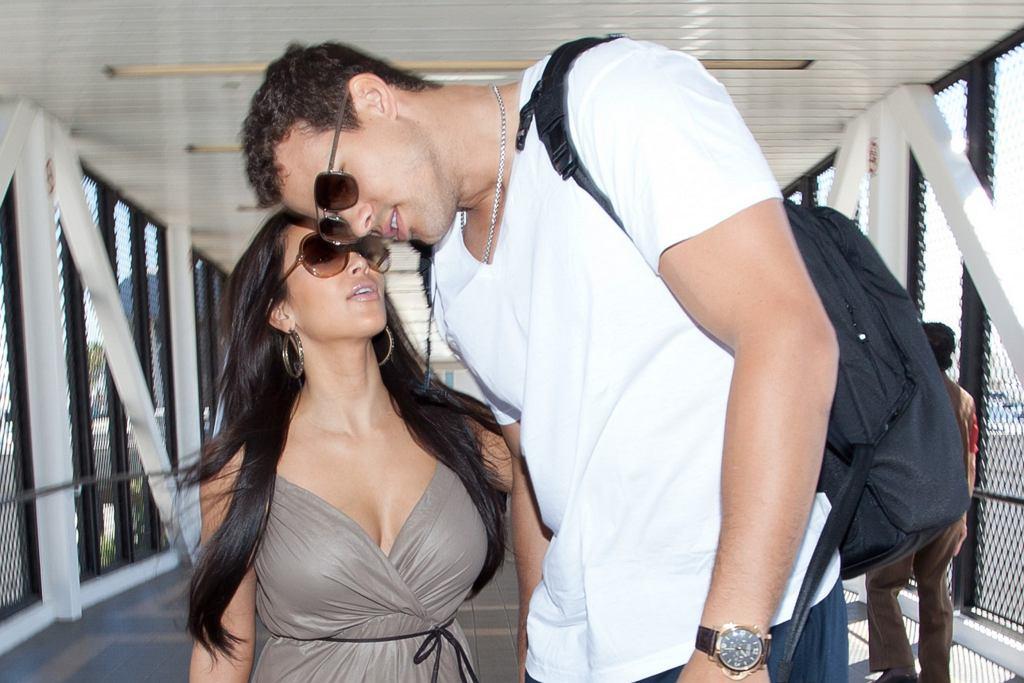 Kim Kardashian z byłym mężem