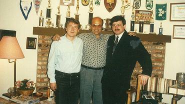 Andreas Mparmperis (w środku) z Wojciechem Wyganowskim i Tomaszem Jagodzińskim.