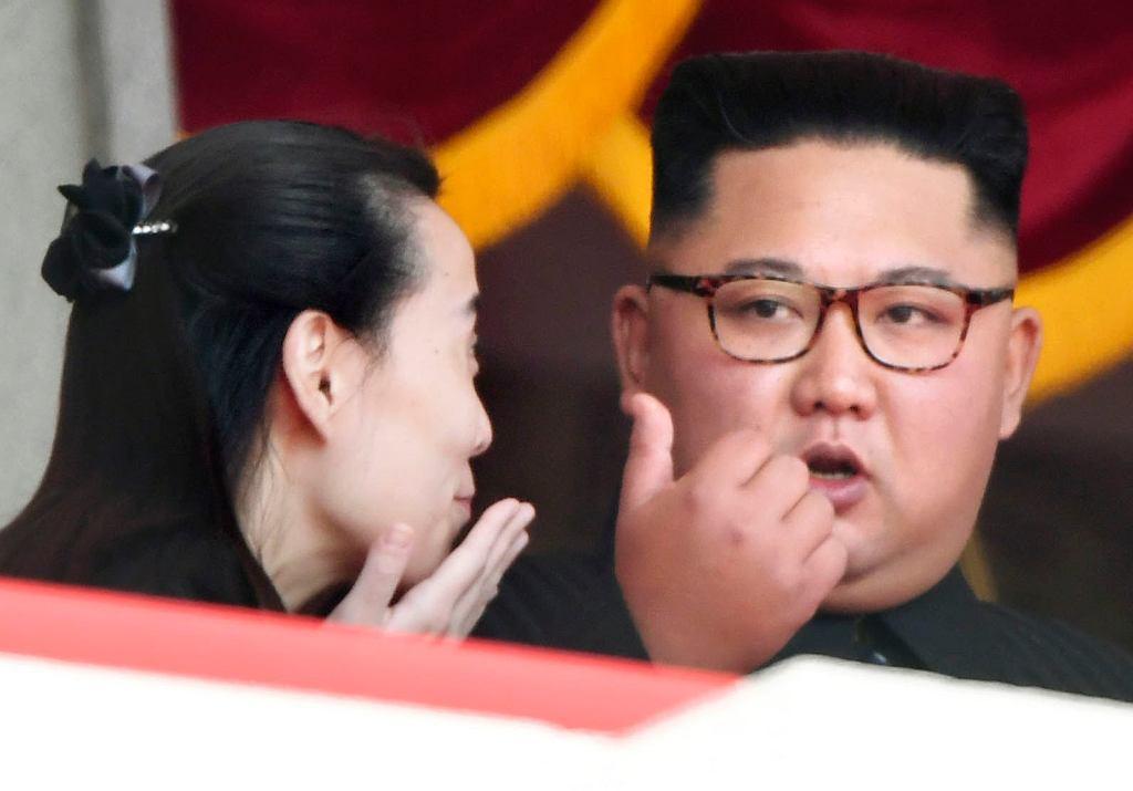 Kim Dzong Un, przywódca Korei Północnej, z siostrą