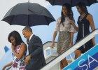 Michelle i Barack Obama polecieli na Kubę z córkami. Sukienki piękne. Ale spójrzcie na BUTY Malii i