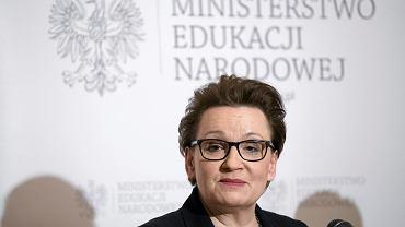Minister edukacji w rządzie PiS Anna Zalewska