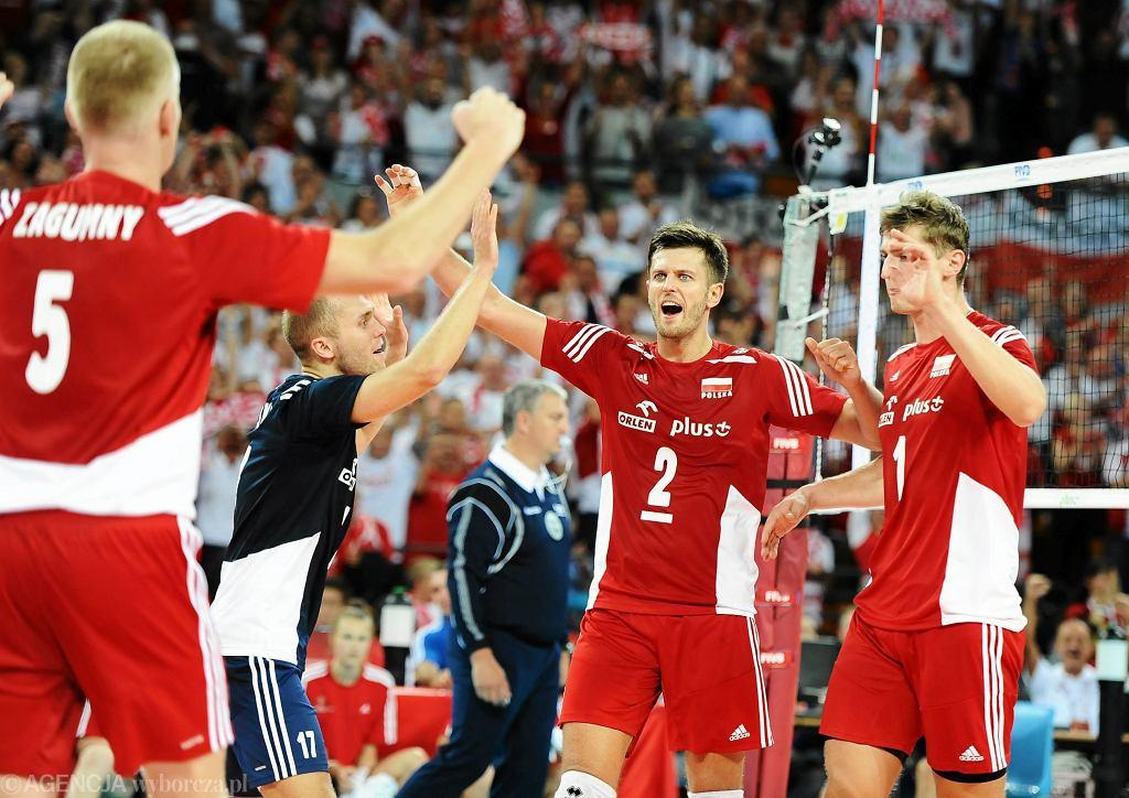 Polscy siatkarze podczas meczu z Australią