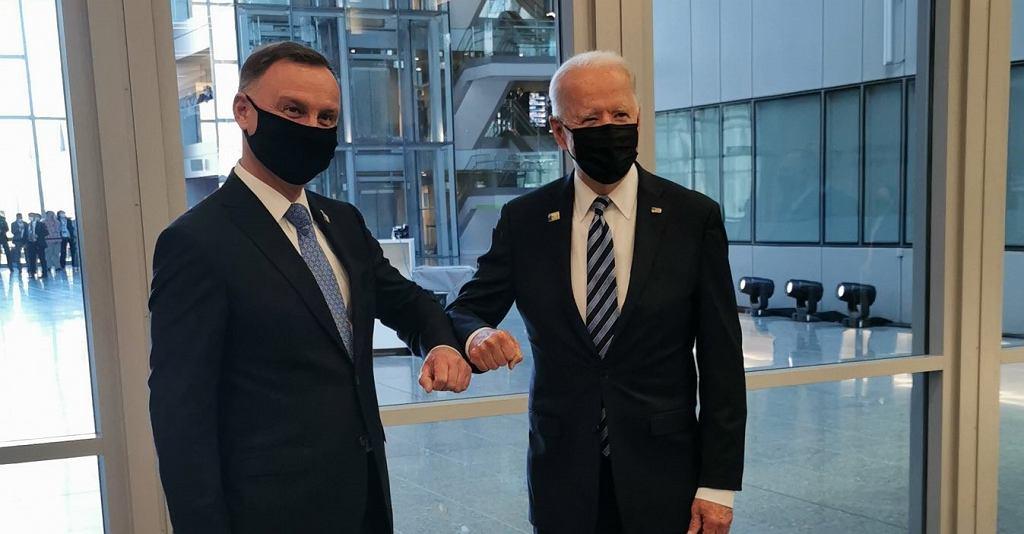 Andrzej Duda i Joe Biden