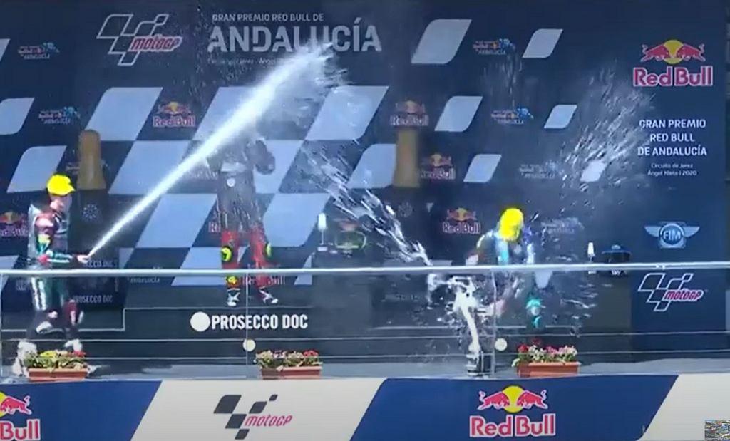 Celestiano Vietti starał się powtórzyć sztuczkę z szampanem kierowcy Formuły 1, Lando Norrisa