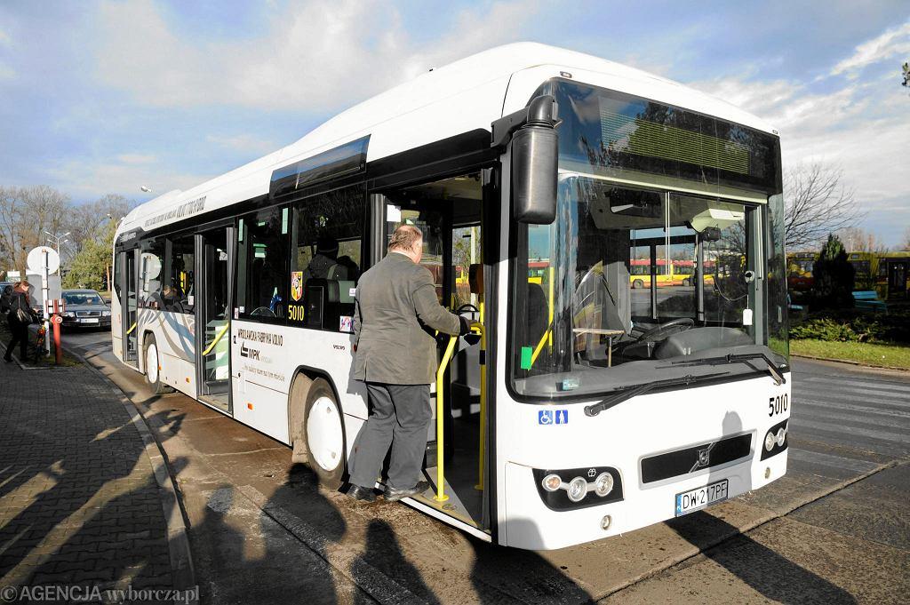 Jedyny wrocławski autobus MPK z napędem hybrydowym