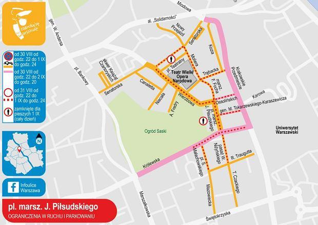 Donald Trump w Warszawie - utrudnienia w ruchu. Które ulice będą zamknięte?