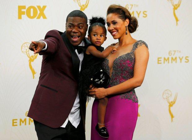 Tracy Morgan z żoną i dzieckiem