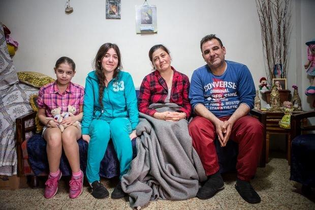 Christian family from syrian Hasake