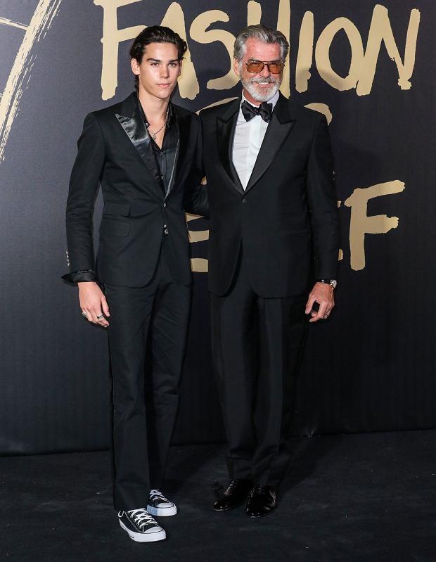 Pierce Brosnan i Paris Brosnan na London Fasion Week 2019