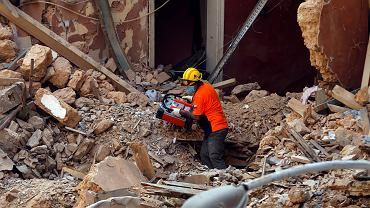 Gruzowisko po eksplozji w Bejrucie
