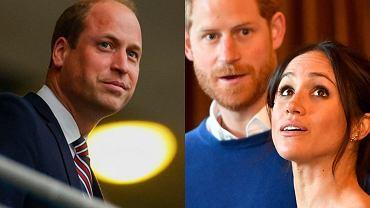 Meghan Markle, książę Harry, książę William