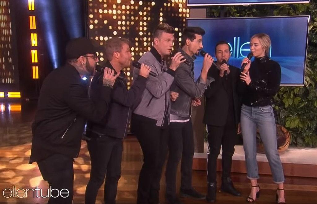 Emily Blunt Sings I Want It That Way With Backstreet Boys on Ellen Show
