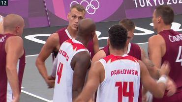 Mecz Polska - Łotwa w koszykówce 3x3 na igrzyskach olimpijskich