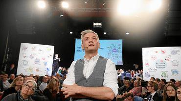 Były prezydent Słupska Robert Biedroń podczas spotkania Burza Mózgów