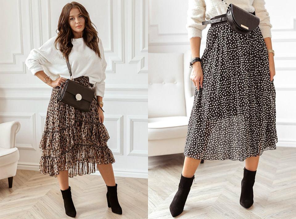 Wzorzyste sukienki na jesień