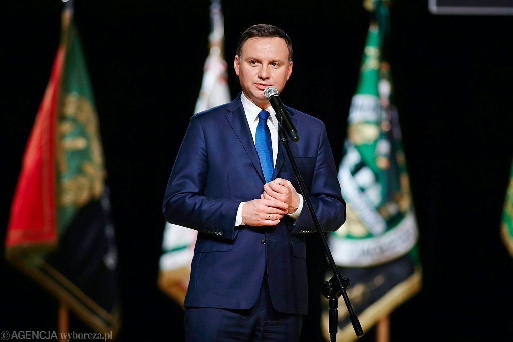 Andrzej Duda na zeszłorocznych uroczystościach barbórkowych w Bełchatowie