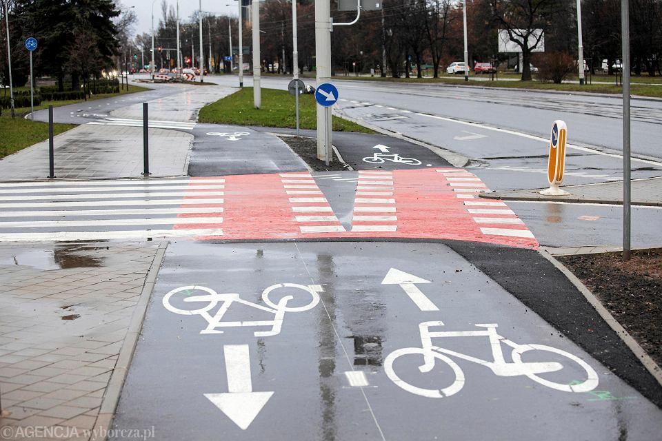 Wzdłuż ul. Grabiszyńskiej powstała nowa droga rowerowa.