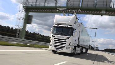 Elektryczna ciężarówka należąca do Scanii