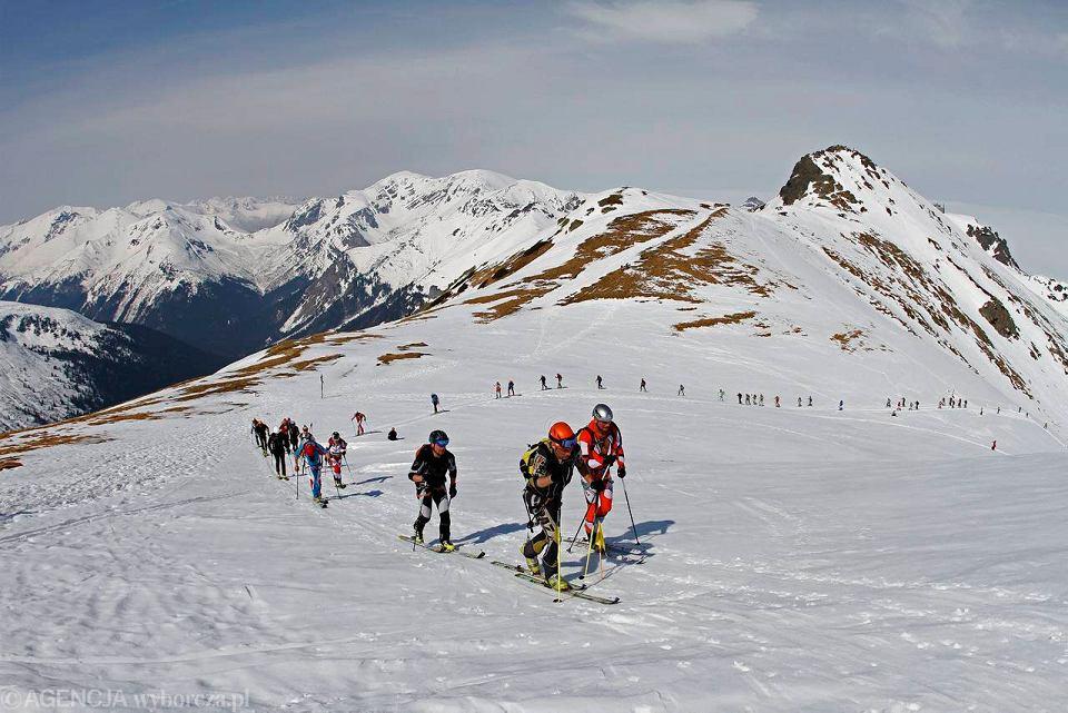 Zawody skialpinistyczne - XVI Memoriał Piotra Malinowskiego. Tatry, rejon Świnicy, 20 kwietnia 2013