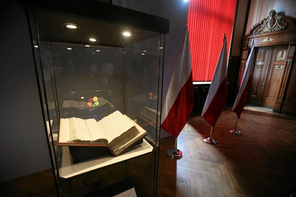 Oryginał Konstytucji 3 Maja z 1791 r. wystawiony w Zachodniopomorskim Urzędzie Wojewódzkim