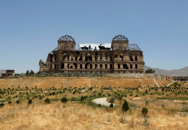 A view of the historic Darul Aman palace before the inauguration of the reconstruction project to restore the ruins of the palace, in Kabul, Afghanistan May 30, 2016. REUTERS/Omar Sobhani