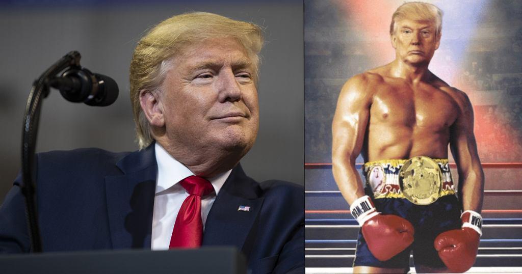 Donald Trump wstawił zdjęcie jako Rocky na tweeterze