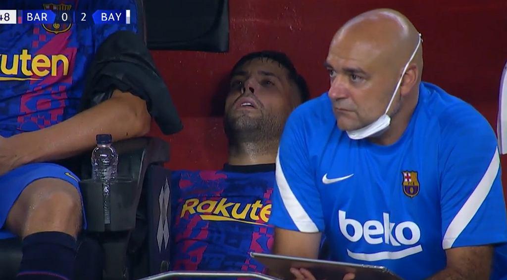 Jordi Alba zakończył mecz z Bayernem z kontuzją