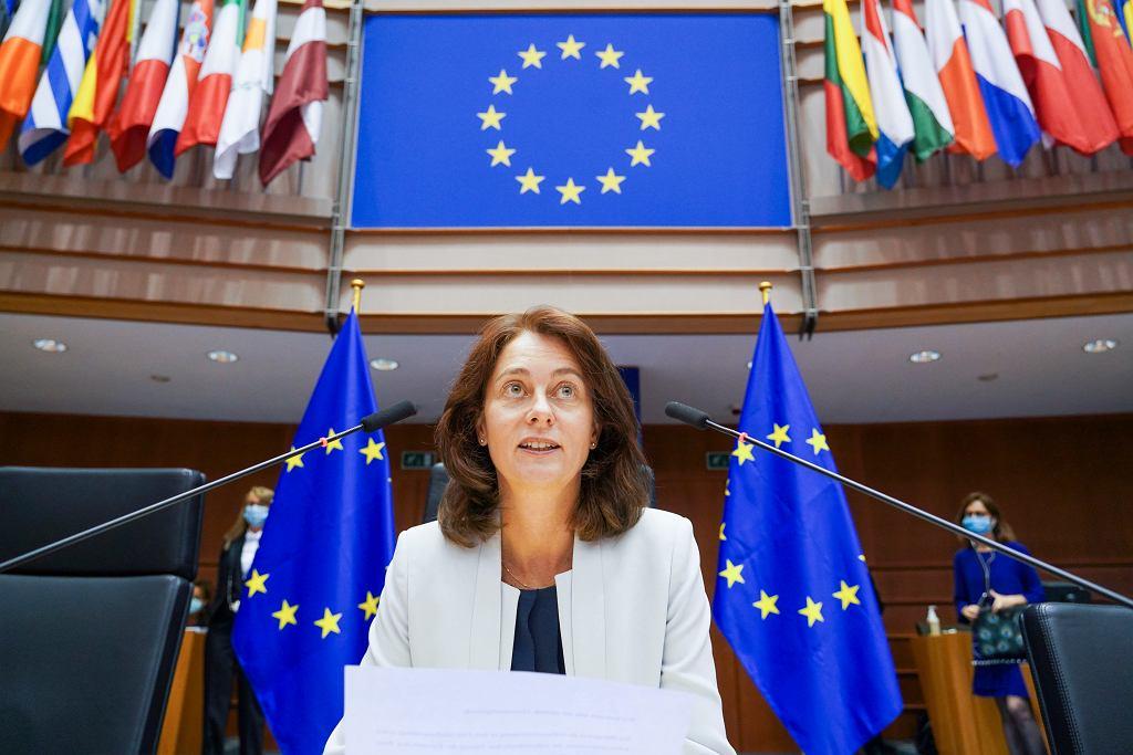 Katarina Barley, wiceprzewodnicząca Parlamentu Europejskiego, otwiera sesję plenarną zgromadzenia