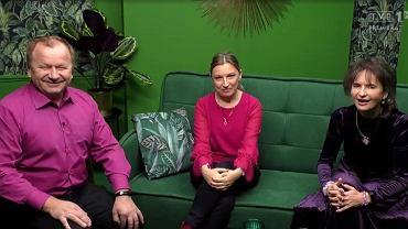 Mieczysław Worach, Maria Witkowska i Lidia Lasota w 'Motel Polska' TVP