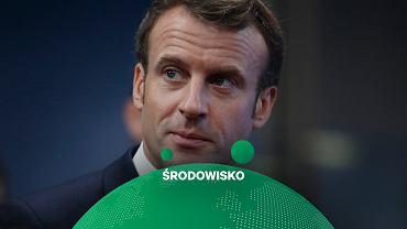Emmanuel Macron podczas szczytu dotyczącego neutralności klimatycznej