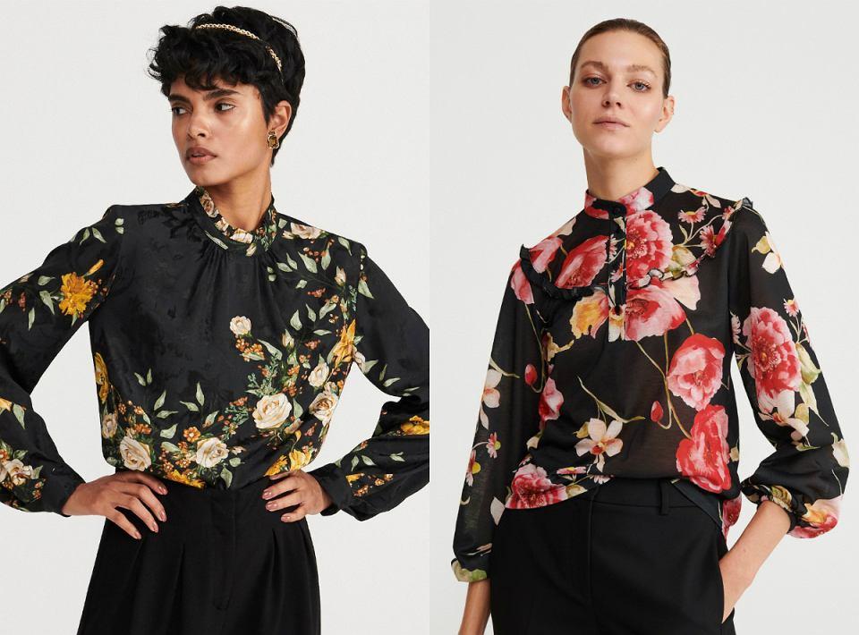 Koszule i eleganckie bluzki w kwiaty