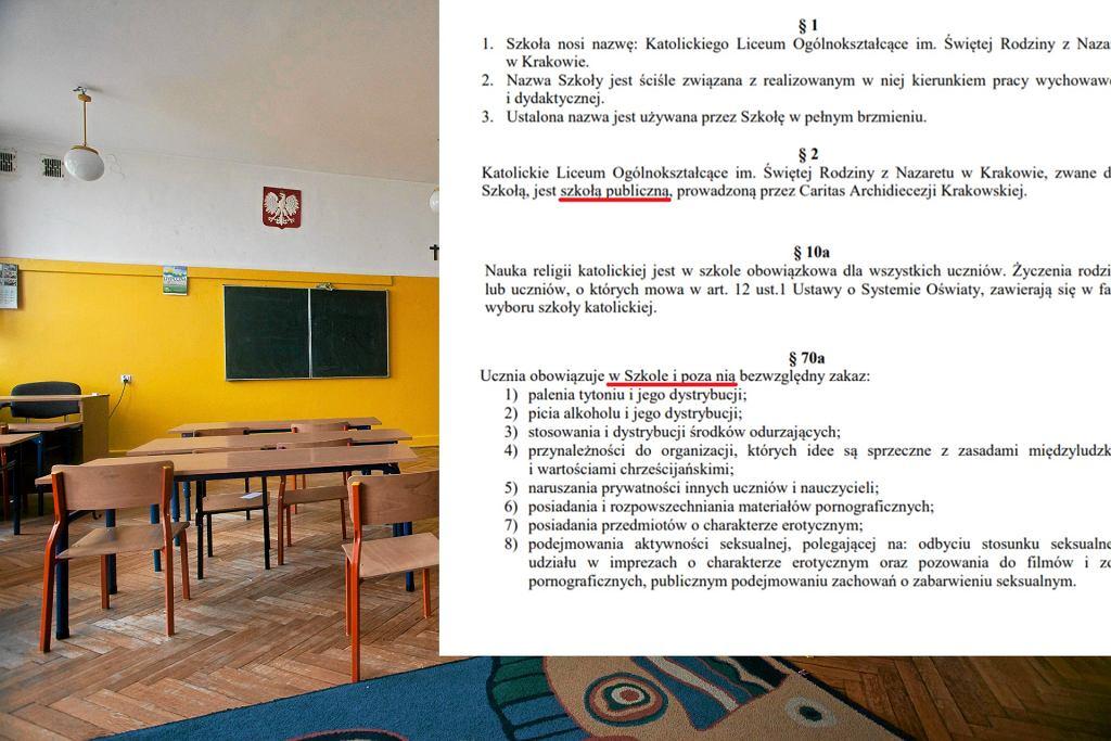 Kontrowersyjne zapisy w statutach szkoły