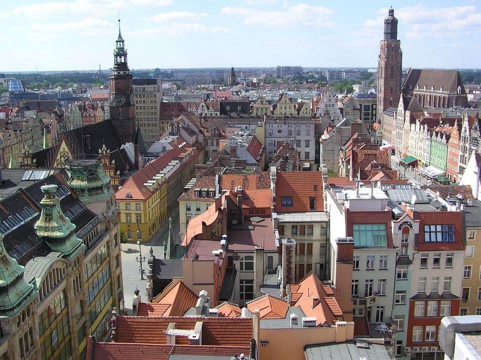Wrocław - panorama rynku z Mostku Czarownic