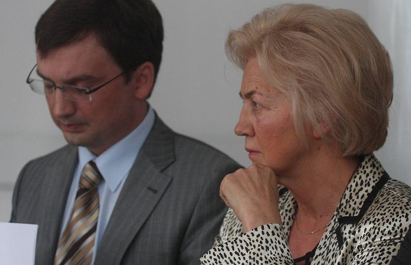Zbigniew Ziobro i Krystyna Ziobro w sądzie