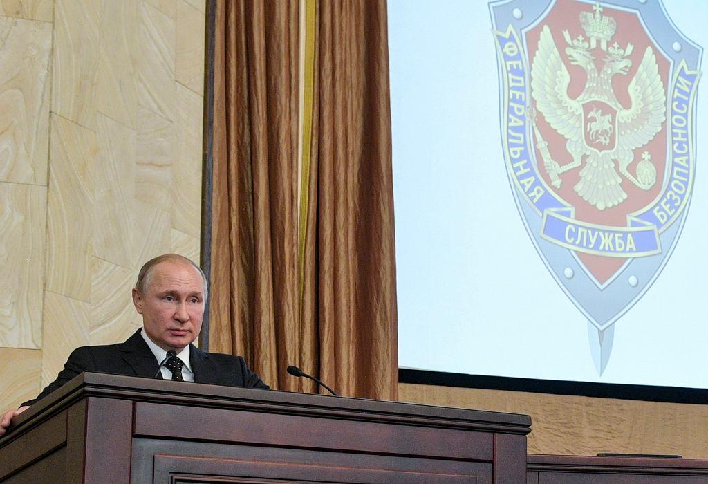 Władimir Putin podczas spotkania z FSB 6 marca