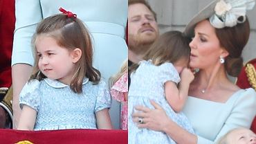 Księżniczka Charlotte, księżna Kate na Trooping the Colours 2018