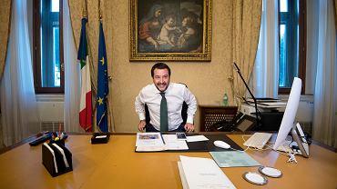 Matteo Salvini, wicepremier i minister spraw wewnętrznych Włoch.